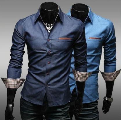 MODERNÍ pánská košile s dlouhým rukávem c1e22785a7
