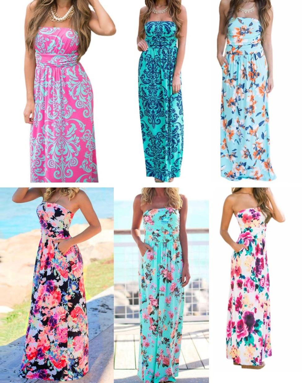 d4d60978f8ef BAREVNÉ letní dámské šaty
