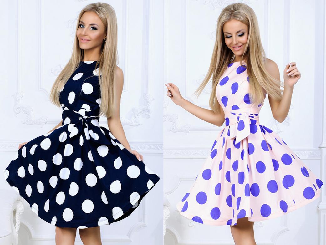 TOP CENA dámské šaty s puntíky 7feff0522f